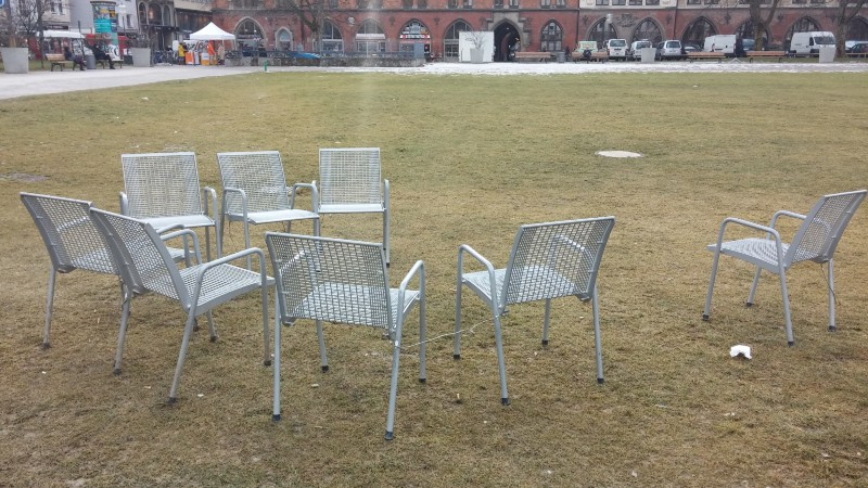 Some empty chairs in Munich