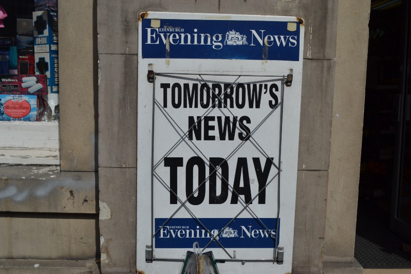 Tomorrow's News Today, Edinburgh