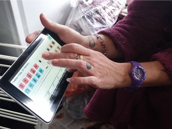 A 'comfort timeline' heating practice diary developed by Natalia Romero Herrera, TU Delft, being used here by a householder in Dartford, UK.