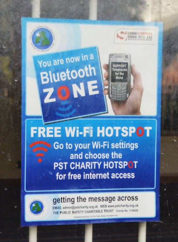 You are now entering a Bluetooth Zone
