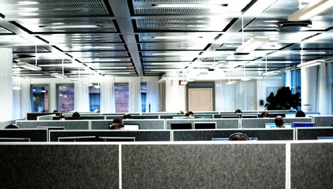 Cubicles (image by Michael Lokner, used under CC licence)