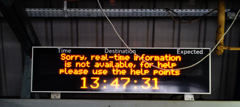 Display at Clapham Junction station