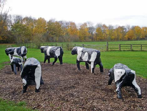 Milton Keynes' Concrete Cows, by Diamond Geezer