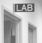 Lab sign by brotherM on Flickr, CC-licensed