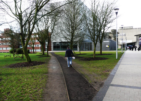 A paved cowpath at Brunel