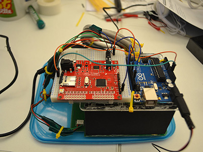 Arduino, WAV Trigger and cannibalised CurrentCost EnviR