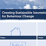Creating Sustainable Innovation Through Design for Behaviour Change